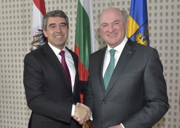 Landeshauptmann Dr. Erwin  Pröll empfing am heutigen Mittwoch den bulgarischen Staatspräsidenten Plevneliev in St. Pölten.