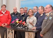 Landeshauptfrau Johanna Mikl-Leitner informierte gemeinsam mit den Vertretern der Einsatzorganisationen im Zuge einer Pressekonferenz über die Ergebnisse des Sicherheitsgipfels.