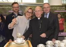 Superintendent Lars Müller-Marienburg von der Evangelischen Kirche, Landeshauptfrau Johanna Mikl-Leitner, Diözesanbischof Klaus Küng und LH-Stellvertreter Stephan Pernkopf (v.l.n.r.)