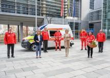 Beim Roten Kreuz Niederösterreich blickt man rund um Präsident Schmoll gemeinsam mit Landesrätin Königsberger-Ludwig und Landeshauptfrau Mikl-Leitner auf ein herausforderndes Jahr zurück.