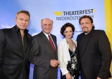 Programmpräsentation des Theaterfestes Niederösterreich 2012 mit  Alfons Haider, Landeshauptmann Dr. Erwin Pröll, Katharina Stemberger und Werner Auer.