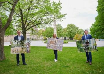 Im Bild von links nach rechts: Michael Duscher ˗ Geschäftsführer der Niederösterreich Werbung, Christiana Hess – Marketingleiterin der Niederösterreich Werbung, Tourismuslandesrat Jochen Danninger