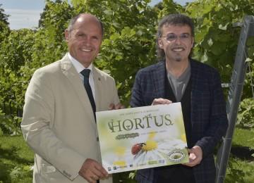 Trailer zu HORTUS in den Kinos unter www.naturimgarten.at/hortus zum Ansehen. Im Bild von links nach rechts: Landeshauptmann-Stellvertreter Mag. Wolfgang Sobotka, Dr. Kurt Mündl.