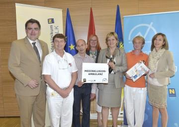 Landesrätin Mag. Barbara Schwarz stellte eine Initiative zur Inklusion von Menschen mit Behinderung in der medizinischen Versorgung vor.