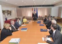Zum letzten Mal führte am heutigen Dienstag Landeshauptmann Dr. Erwin Pröll den Vorsitz bei einer Sitzung der NÖ Landesregierung.
