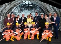 Startschuss für Tunnelarbeiten für Tunnel-Abschnitt Grautschenhof des Semmering-Basistunnels mit zahlreichen Gästen und Ehrengästen