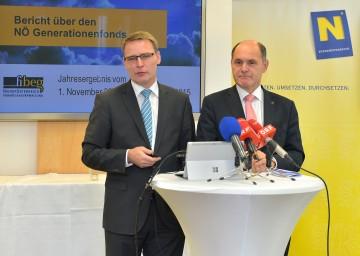 Im Bild von links nach rechts: FIBEG-Geschäftsführer Mag. Johannes Kern und Landeshauptmann-Stellvertreter Mag. Wolfgang Sobotka.