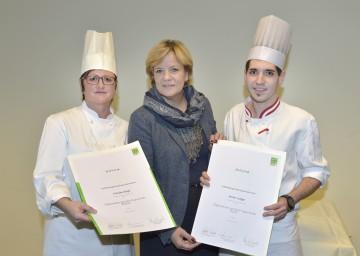 Im Bild von links nach rechts: Claudia Klopf (LPH Herzogenburg), Landesrätin Mag. Barbara Schwarz und Anton Lueger (LPH Neunkirchen).