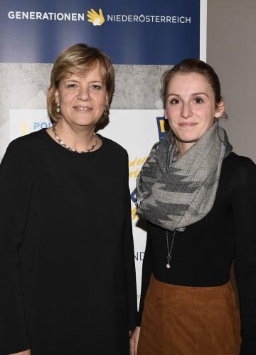 Mentorin und Initiatorin Landesrätin Mag. Barbara Schwarz und Mentee Tanja Nagl, Jugendgemeinderätin aus Judenau (v.l.n.r.)