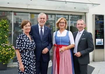 850 Jahre Waidhofen an der Thaya: Doris Schmidauer, Bundespräsident Alexander Van der Bellen, Landeshauptfrau Johanna Mikl-Leitner und Bürgermeister Josef Ramharter (v.l.n.r.)