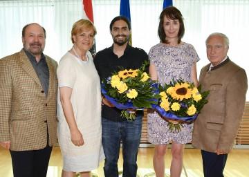 Wilhelm Perkowitsch (Präsident ÖJAB), Landesrätin Barbara Schwarz, Preisträger Roland Stinauer, Heimleiterin Tanja Pöckl (ÖJAB-Haus Niederösterreich 2) und Gunnar Prokop (v.l.n.r.)