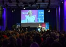 Landeshauptfrau Johanna Mikl-Leitner hielt die Eröffnungsrede beim Tullner Zukunftsforum im Atrium des Minoritenklosters.