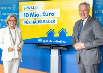 Landeshauptfrau Johanna Mikl-Leitner und Landesrat Martin Eichtinger informieren über die weiteren Impulse für den NÖ Wohnbau.