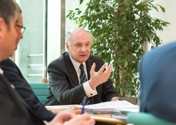 Landeshauptmann Dr. Erwin Pröll gab einen Rückblick über die zurückliegenden 25 Jahren der Kulturpolitik in Niederösterreich.