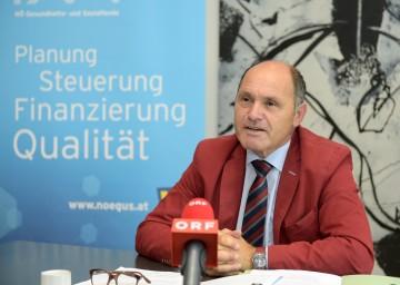 Landeshauptmann-Stellvertreter und NÖGUS-Vorsitzender Mag. Wolfgang Sobotka informierte zur Gesundheitspolitik und neue Entwicklungen in Niederösterreich.