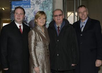 Im Bild von links nach rechts: Bürgermeister Andreas Babler, MSc, Sozial-Landesrätin Mag. Barbara Schwarz, Alt-Bürgermeister Fritz Knotzer und SeneCura Geschäftsführer Anton Kellner, MBA