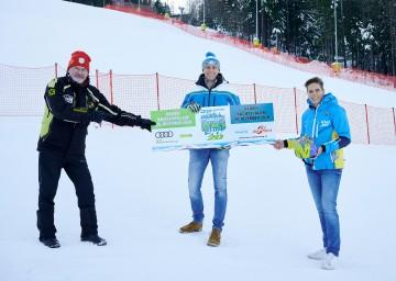 Franz Steiner (von links), Landesrat Jochen Danninger und Michaela Dorfmeister informierten über das bevorstehende Weltcup-Rennen am Semmering.