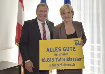 Landesrätin Mag. Barbara Schwarz und Hermann Helm, Amtsführender Präsident des NÖ Landeschulrates, gaben einen Ausblick auf das Schuljahr 2014/2015.