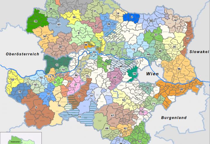 Karte Wien Niederosterreich.Raumordnung Land Niederosterreich