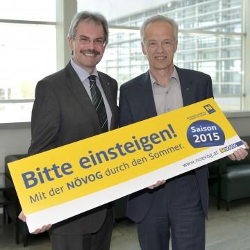 Im Bild von links nach rechts: Landesrat Mag. Karl Wilfing und NÖVOG-Geschäftsführer Dr. Gerhard Stindl
