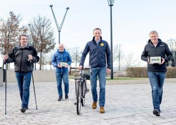 WKNÖ-Präsident Wolfgang Ecker, Ecoplus-Geschäftsführer Helmut Miernicki, Sportlandesrat Jochen Danninger, Spusu-Geschäftsführer Franz Pichler (v.l.)