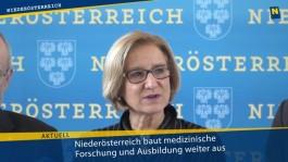 Niederösterreich baut medizinische Forschung und Ausbildung weiter aus