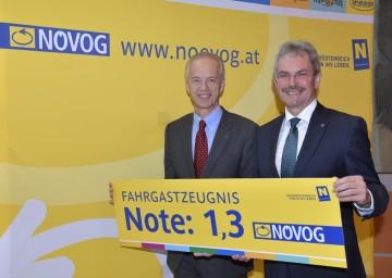 Landesrat Mag. Karl Wilfing und NÖVOG-Geschäftsführer Dr. Gerhard Stindl präsentierten die NÖVOG-Bilanz der Sommersaison 2016 und einen Ausblick auf 2017 (von rechts nach links).