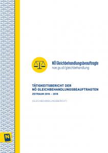 Bericht der NÖ Gleichbehandlungsbeauftragten 2016-2018 Broschüre