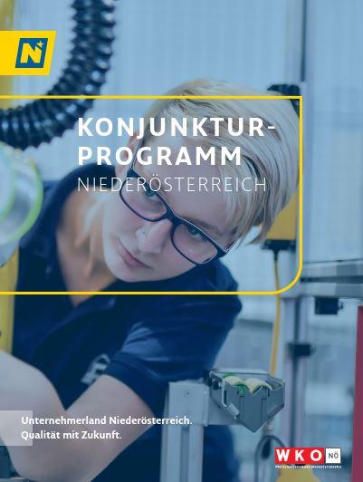 Deckblatt der Broschüre Konjunkturprogramm